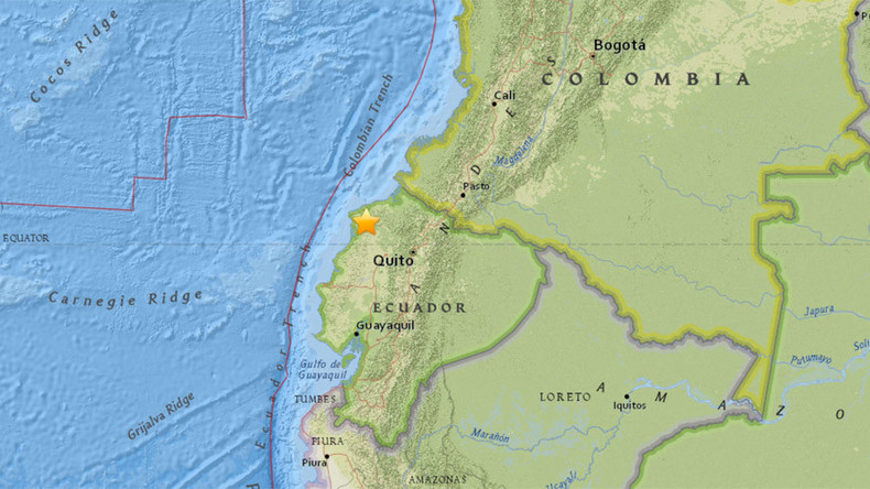 Powerful twin earthquake strikes Ecuador's coast
