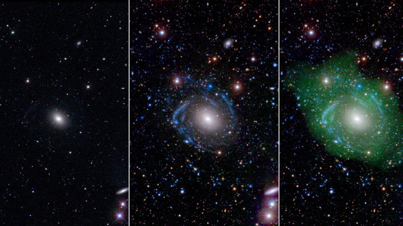 Distant galaxy fools astronomers for decades, turns out to be giant 'Franken-spiral'