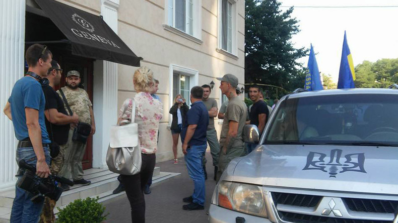 Ukrainian nationalists block Polish politicians in Odessa hotel over 'pro-Russian stance'