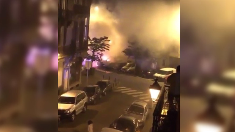 Massive fire & 'explosions' in Brussels as several vehicles set ablaze