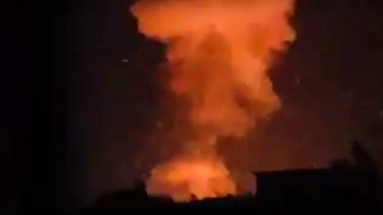 Huge blast rocks arms factory near Aleppo as ISIS, Al-Nusra shell city & attack Syria troops (VIDEO)