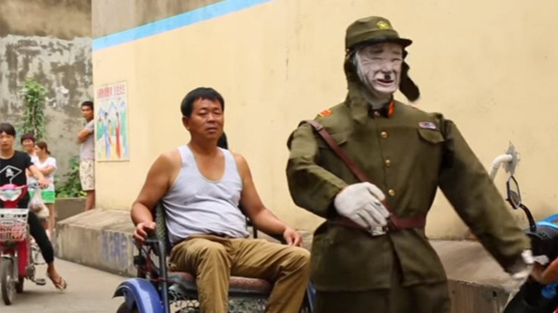 Retired Chinese soldier creates 'Japanese Devil Rickshaw' robot in bizarre WWII tribute (VIDEO)