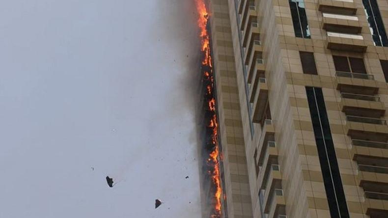 Skyscraper on fire in Dubai (VIDEOS, PHOTOS)