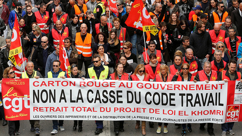 French govt pushes 'progressive' labor bill through parliament without vote for 3rd time