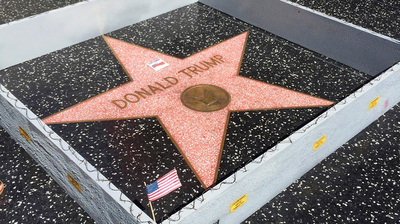Trump's Wall of Fame: The Donald's Hollywood star fenced in (VIDEO)