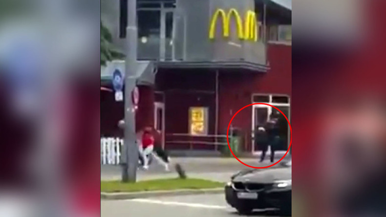 Shocking moments as Munich gunman opens fire on crowd caught on video