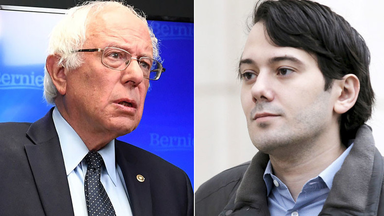 Big Pharma boss Shkreli attacks Bernie Sanders on Twitter, senator fails to take bait