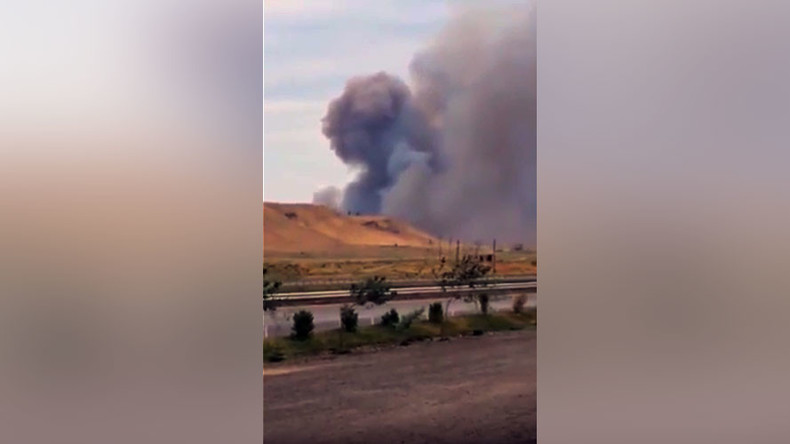Blasts & fire at arms factory in Azerbaijan, 2 killed, 24 injured (VIDEO)