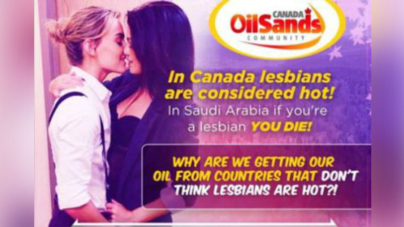 'Hot lesbians' ad lands Canadian oil sands group in hot water