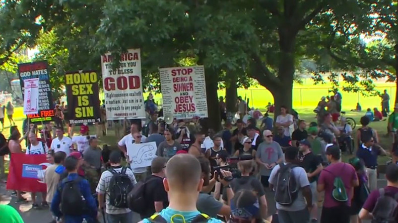 'Great Wall of Love' dwarfs Westboro Baptist anti-LGBTQ 'hellfire' tour (VIDEO)