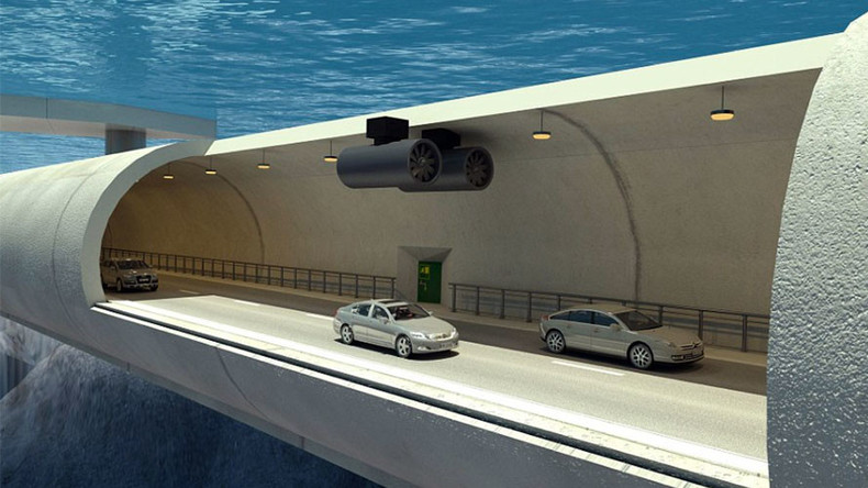 Norway to create world's first floating underwater tunnel (VIDEO)