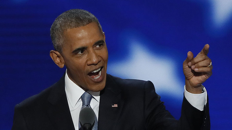 'No on TPP': Hecklers disrupt Obama's DNC speech