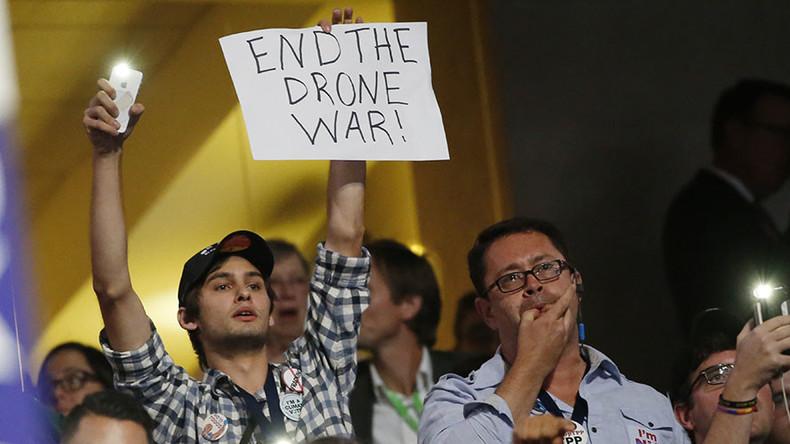 'No more war!' Bernie Sanders supporters interrupt Panetta's speech at DNC