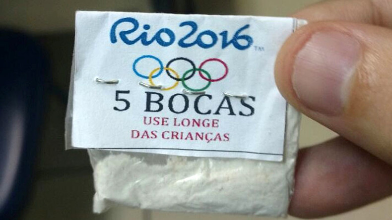 Rio police discover Olympic-branded drugs as crime concerns grow