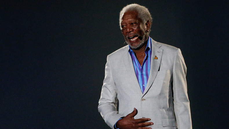 Divine voice behind Clinton: Morgan Freeman steals spotlight at DNC