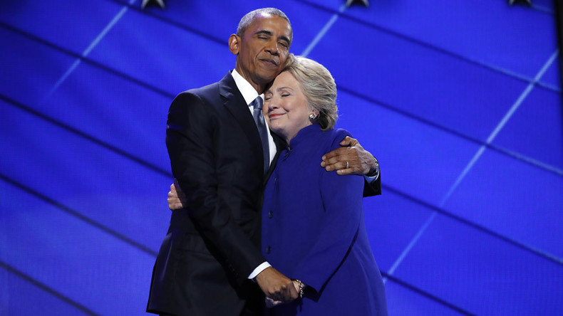Get a room! Hillary & Obama's hug triggers Photoshop contest for the ages