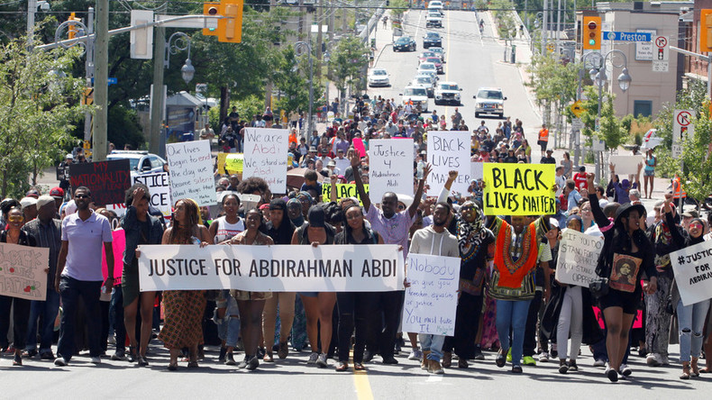 'They murdered him': Hundreds of Canadians protest police killing of mentally ill black man (PHOTOS)