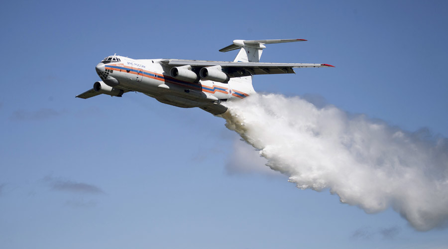 Russian IL-76 plane with 10 on board disappears while putting out forest fire in Siberia