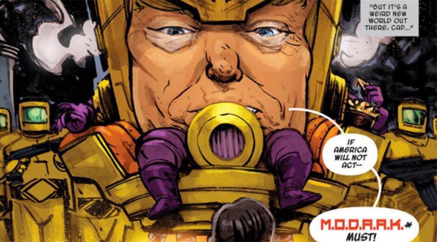 Marvel transform Trump into 'big head' Captain America supervillain (PHOTOS)