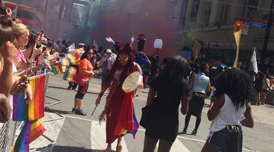Black Lives Matter halts Toronto Pride parade to address 'anti-Blackness' (PHOTOS)