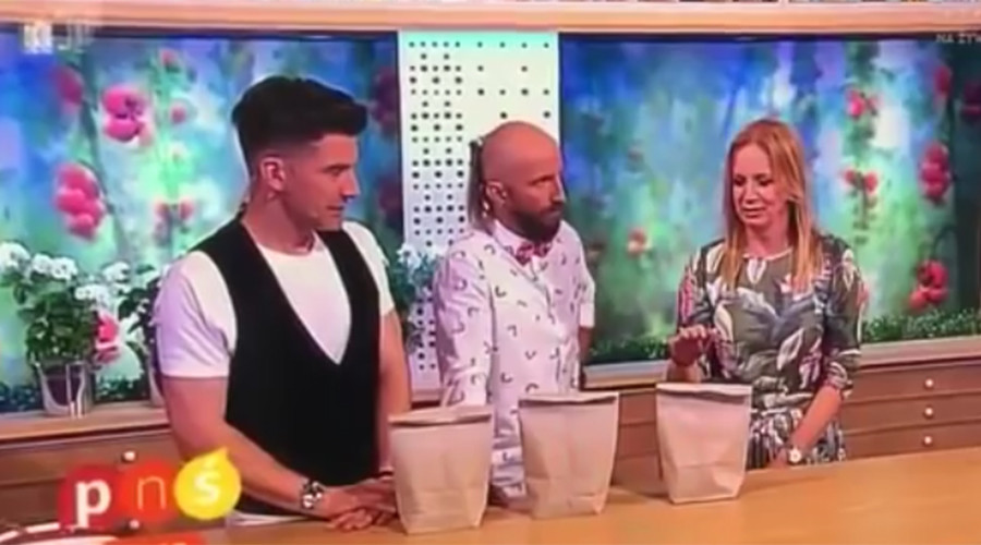Polish TV host gets hand stabbed by nail as magic trick goes horribly wrong (VIDEO)