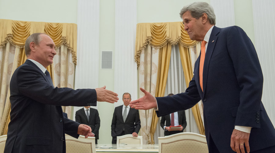 'I'm ready, you're ready, let's go!' Kerry sits down for Syria talks with Putin in Moscow