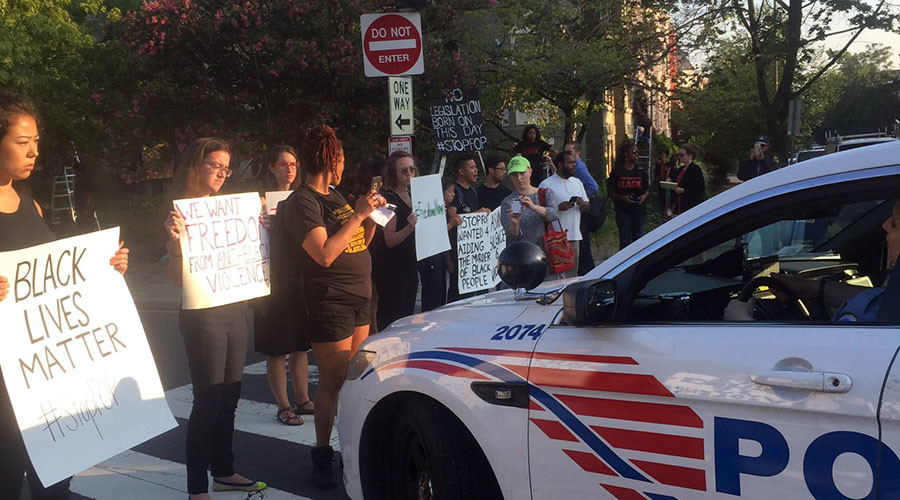 Protesters occupy police unions, demand investment in black communities