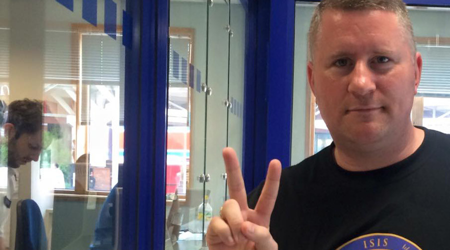 Far-right Britain First leader claims police banned him from Skype for 'wearing political uniform'