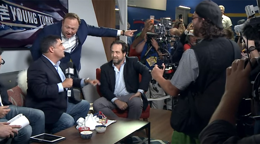 Alex Jones storms Young Turks show, nearly gets into fight on air (VIDEO)