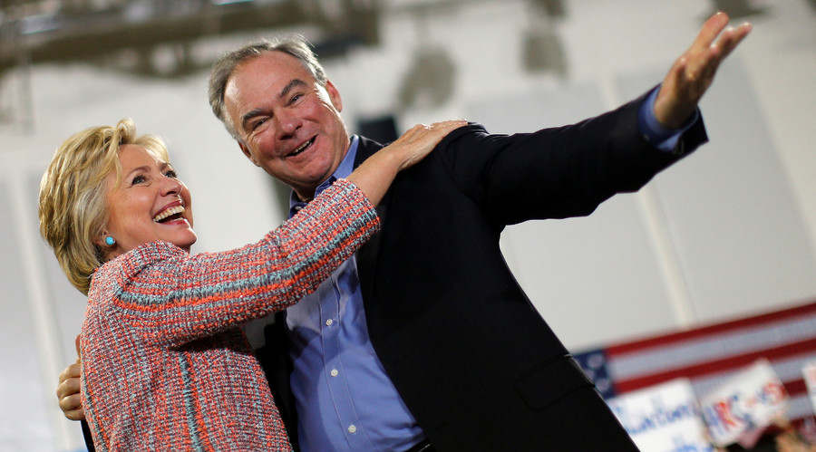 Hillary Clinton announces Tim Kaine as vice-presidential running mate
