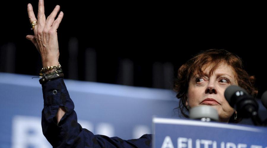 Oscar-winning actress Susan Sarandon is NOT having the time of her life at DNC (VIDEO)