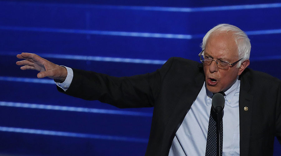 Sanders urges supporters to stop booing & support Clinton to beat Trump