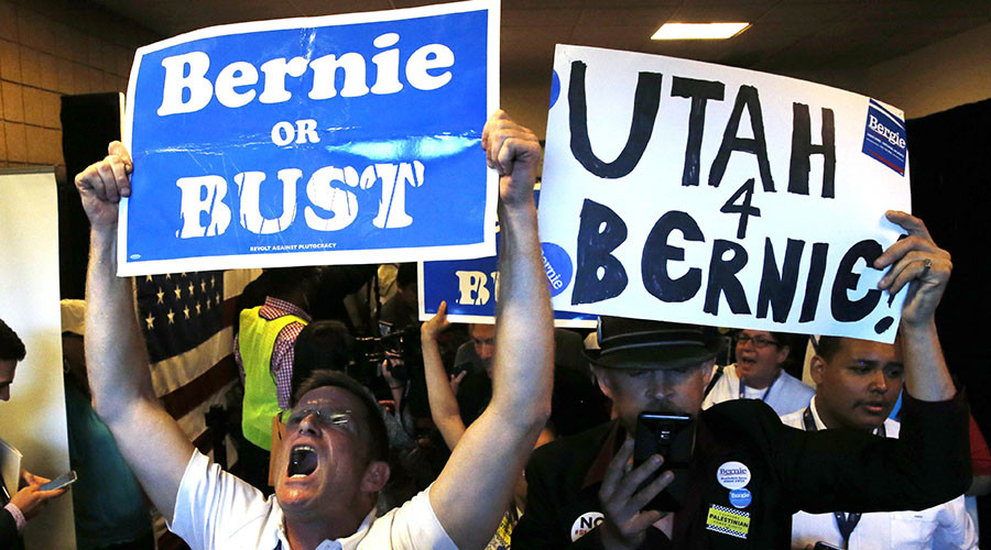 Walk out & occupation: Sanders delegates stage walk out during DNC roll call