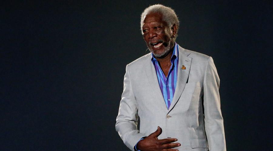 Divine voice behind Clinton: Morgan Freeman steals spotlight at DNC