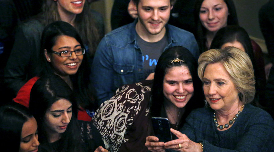 Clinton's support drops 16% among youth in one year – poll