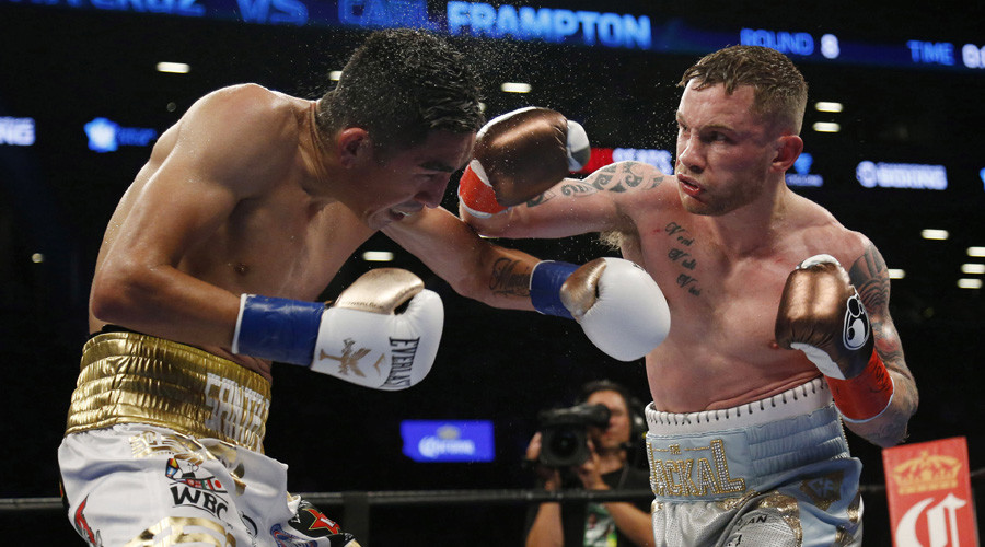 Frampton is 2-time world champ after stunning win over Santa Cruz