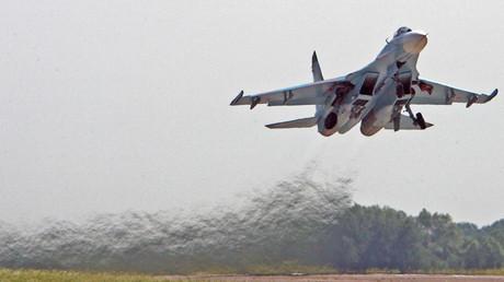 SU-27 fighter at the Chkalovsk aerodrome, Kaliningrad Region. © Igor Zarembo