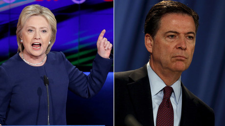 Democratic U.S. presidential candidate Hillary Clinton, U.S. Federal Bureau of Investigation Director James Comey © Jonathan Ernst, Jim Young