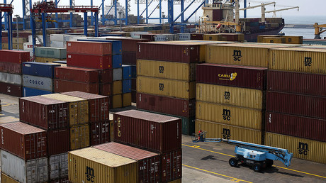 Containers are seen at Naples harbor, Italy ©Tony Gentile