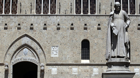 The world's oldest bank Monte dei Paschi headquarters in Siena, Italy © Stefano Rellandini