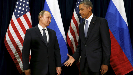 U.S. President Barack Obama and  Russian President Vladimir Putin © Kevin Lamarque