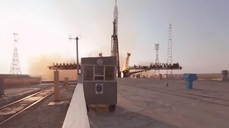 Watch the Soyuz crew blast off in RT's exclusive 360 video
