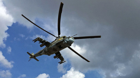 Russian Mi-24 helicopter crashed in Syria, both pilots killed – MoD