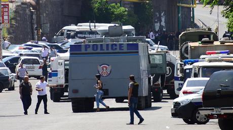 'Terrorists' seize police HQ in Armenia's capital, kill 1, take hostages