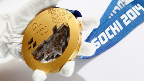 A gold medal manufactured for the 2014 Winter Olympic Games in Sochi. © Sergei Karpukhin/