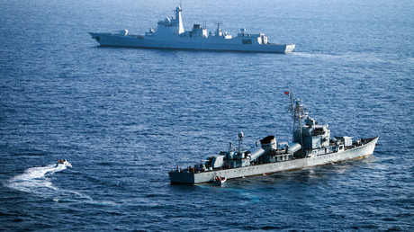 Сrew members of China's South Sea Fleet taking part in a drill in the Xisha Islands, or the Paracel Islands in the South China Sea. File photo. © AFP