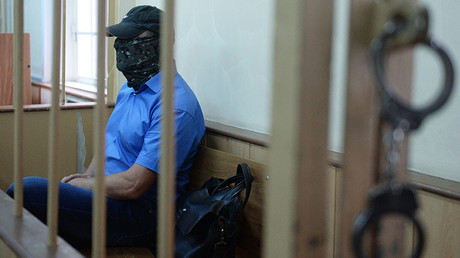 Aleksandr Lamonov, deputy chief, internal security directorate, Russian Investigative Committee, seen in the Moscow's Lefortovo Courtroom considering the investigator request on his arrest. ©Mikhail Voskresenskiy