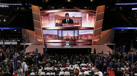 Speaker of the U.S. House of Representatives Paul Ryan (R-WI) speaks at the Republican National Convention in Cleveland, Ohio, U.S. July 19, 2016. ©Mike Segar