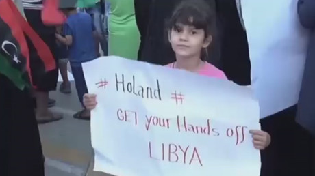 Anti-French protest in Libya on July 21, 2016. © Ruptly
