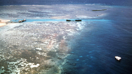 An aerial view of Australia's Great Barrier Reef ©